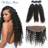ELee's Hair 8A Deep Wave Malaysian Hair With Closure Deep Wave With Frontal Closure Human Hair Bundles With Lace Frontal a deep кардиган