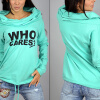 MyMei 2016 New Womens Sweater Knit Shirt Printing Letters Heaps Collar Hooded Sweater charter club new alaskan sky blue womens xl cable knit crewneck sweater $59 069