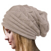 MyMei  Women's Winter Beanie Knit Crochet Ski Hat Oversized Cap Hat Warm free shipping new winter unisex oversized slouch cap plicate baggy beanie knit crochet hot hat y107