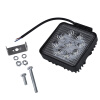 27W LED Work Light Пятно Offroad Туман Вождение 4X4 для Jeep Truck Лодка ATV Бар black chrome 45w high low beam headlight 7 inch round daymaker projector light for jeep wrangler jk tj offroad 4x4 lada niva