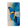 Blue Butterfly Design PU Leather Flip Cover Wallet Card Holder Case for Lenovo K6 Note bear design pu leather flip cover wallet card holder case for samsung galaxy a5 2017