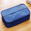 OuRunzhe Portable Bag Double open Cosmetic travel underwear storage blue 30*17*11.5cm portable canvas flower floral cosmetic bag travel toiletry wash makeup storage bags organizer make up case for women
