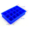 15-Cavity Silicone Drink Ice Cube Pudding Jelly Cake Chocolate Mold Mould Tray Set of 2 460001 12 square soft silicone ice cube trays cake mould red