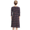 S-3XL Plus Size Trendy Women Dress Trendy Casual Plaid O-Neck Autumn Dresses Cheap-Clothes-China michael kors new red women s size small s plaid print boat neck sweater $99