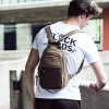 Canvas bag outdoor mountaineering bag men breast bag lady small backpack European and American fashion handbag tide bag new laptop briefcase bags for men casual pu leather totes business male multifunction shoulder messenger men bag fashion handbag