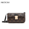 2 Colors Fashion Small Women Messenger Bags PU Leather Clutch Bag Floral Print Women Flap Bag Brand New Ladies Bags