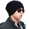 CACUSS WOOL KNIT HATS MEN ДВУХМЕСТНАЯ ПОВЕРХНОСТНАЯ КОСТЮМА HATING CAP Unisex Winter Hat Black Front - Темно-серый Z0081 bomhcs cute women autumn winter warm thick handmade knit hats beanie cap hat
