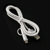 Nylon Braided 2 in 1 High Speed Sync Data Micro USB Charging Cable Line For iPhone 7 6s Plus Android 580197 micro usb sync data charging cable for htc desire s g7s wildfire s more 80cm lenght