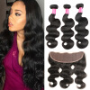 13x4 Ear To Ear Lace Frontal Closure With Bundles 7A Brazillian Virgin Hair 3 Bundles With Frontal Closure Body Wave Human Hair