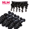 13 x 4 8A grade Brazilian Virgin human Hair Lace frontal With 4pcs unprocessed virgin loose wave black Hair Bundles Weaves 7a none full lace human hair wigs short straight glueless unprocessed virgin brazilian lace front wig black women
