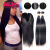 4 x 4 8A grade Brazilian Virgin human Hair Top Lace closure With 4 pcs unprocessed Silky Straight black Hair Bundles weft 7a none full lace human hair wigs short straight glueless unprocessed virgin brazilian lace front wig black women