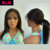 Фото Full Lace wig straight Glueless Brazilian Virgin Human Hair with baby hair Black Women