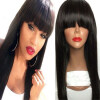 Brazilian virgin full lace human hair wigs for black women glueless full lace front human hair wigs with baby hair full bangs new popular soft unprocessed brazilian virgin remy hair curly lace front wigs glueless human hair full lace wigs for black women