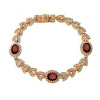 Yoursfs@ Gold Plating Red Rhinestone Crystal Bracelets For Women Rose Gold Color Charms Mother's Day Bracelets Fashion Jewelry