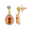 Yoursfs@ Fashion Stud Earrings Water Drop Ruby Gem Jewelry 18K Gold Plated CZ Earring Brincos Online Shopping Africa Wholesale cardiofax gem ekg 9022 k