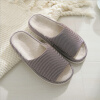 Autumn Winter Men Slippers Household Striped Cotton Soft Fabric Slipper Water-proof Anti-slip Sole Indoor Slippers16104