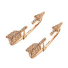 Yoursfs@ Luxury Arrow Design Gold Plating  Earrings Paved  Shiny Austrian Crystal Jewelry for Women couple shiny austrian crystal stud earrings