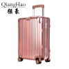QiangHao 202429 inch 100% pure Aluminum Alloy pull rod suitcase TSA customs lock silent universal wheel hard metal luggage vintage suitcase 20 26 pu leather travel suitcase scratch resistant rolling luggage bags suitcase with tsa lock