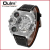 2016 Oulm 1349 Unisex Dual-movement Sports Mechanical Watch with GMT Dual Time Display Thermometer & Compass thermometer watch compass watch dual time zone dual movt quartz watch for men oulm 1149