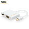 CABLE CREATION Mini DP to VGA / HDMI Combo Converter Apple macbook Lightning Interface Mini Displayport Adapter 4K White CD0163 rui ming la279201al apple mini dp для vga hdmi combo converter lightning интерфейс mini mini displayport adapter silver