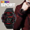 SKMEI Men Sports Watches 50M Waterproof Back Light LED Digital Watch Chronograph Shock Double Time Wristwatches 1243 men sports watches waterproof multiple time zone led quartz wristwatches silicone auto date back light ohsen brand watch ad2806