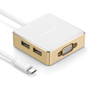 Green Alliance Type-C to VGA Converter Apple MacBook Extension Dock USB-C Компьютерный адаптер Кабель для передачи данных с PD Charger 3.0 Hub HUB Splitter 30442 usb c type c to hdmi vga 3 5mm audio adapter 3 in 1 usb 3 1 type c cable converter for macbook to tv display monitor projector