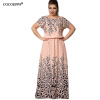 Cocoepps Summer 2017 Women's L-6XL Chiffon with Print Long Sleeve Short Sleeve Casual Floor-Length Big Size Maxi Dresses vestidos long sleeve pageant dresses for girl glitz tulle flower girls dress for weddings ball gpwn floor length mother daughter dresses