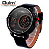 Oulm Unique Big Quartz Watch Flashing LED Function Two Time Zone Watches Men Fashion Brand Leather Wristwatch Sport Male Clock oulm 9315 original fashion designer brand quartz watches men 3 time zone big face genuine leather watch montre homme de marque