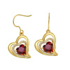Yoursfs@ Romantic Heart of Shape Promise Dangle Earrings For Women Vintage Earring Jewelry Christmas Gifts Online Shopping India love topic vintage style heart shape pink rhinestone earring