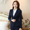 Women's Two-Button Career Blazer Mujer 2017 Spring Autumn Long Sleeve Notch Suit Jacket Plus Size S To 5XL Blazers Femme vince camuto new azure blue women s size 4 notch collar one button blazer $150
