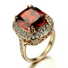 Yoursfs® 18K Rose Gold Plated 2.5ct Simulated Ruby Rings Используйте австрийские ювелирные украшения из кристаллов yoursfs 18k rose white gold plated letter best mum heart necklace chain best mother s day gift