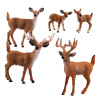 SURPRESA V, Animal Set Toy Gift for Kids,white-tailed Deer Clan, 6 pieces of one set small simulation animal deer sika deer artificial baby deer toy decoration for garden home cute small doll figure gift for child
