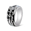 Yoursfs@ Vintage 18K White Gold Plated Jewelry with Engraved Silver Cross Sword,Silver & Black Rings for Men 50 50cm black matte pvc background for jewelry rings photo backdrop for jewelry mini items
