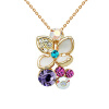 Фото Yoursfs@ Zircon Necklace Blooming Flower Necklaces & Pendants Wedding Jewelry For Women Romantic Collier Femme Cute Gift Bijoux