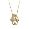 Yoursfs® 18K Rose Gold Plated Love Cat Necklace Использование австрийского кристалла моды Gemstone ожерелье yoursfs 18k rose white gold plated letter best mum heart necklace chain best mother s day gift