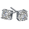 Yoursfs@ Solitaire Earrings 18K White Gold Plated Fashion Women Jewelry Dainty Post Studs чехлы для iphone 5 и 5s одинаковые