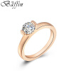 BAFFIN Rose Gold Plated Crystal Wedding Rings Cubic Zirconia For Women Party Jewelry Accessories Girls Gift нож для газонокосилки makita 671002550 elm3311