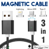 Keymao Magnetic Phone Kabel Data Type-C Charger  Cable 3-in-1 Micro USB for iPhone 7 7 plus 6 6s Plus iPad Samsung S6 S7 S8 plus keymao magnetic phone kabel data type c micro usb lighting charger cable 3 in 1 for iphone ipad samsung