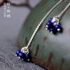 Luo Linglong s925 sterling silver earrings earrings female cherry petals earrings decorated allergy simple temperament personality luo linglong original s925 sterling silver earrings female song type triangle earrings earrings earrings temperament high end gift