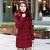 2017 New Winter Coat Long Thick Cotton Padded Jacket Warm Cotton Slim Down Jackets linenall women parkas loose medium long slanting lapel wadded jacket outerwear female plus size vintage cotton padded jacket ym