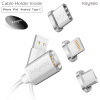 Keymao Magnetic Phone Kabel Data Lighting Type-C Micro USB Charger Cable 3-in-1 for Iphone Android keymao magnetic phone kabel data lighting type c micro usb charger cable 3 in 1 for iphone android