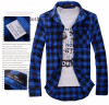 Men Plaid Shirt Camisas 2016 New Arrival Men\\\'s Fashion Plaid Long-sleeved Shirt Male Casual High Quality Shirt Size M Bu harppihop new men s 100