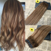 5 Clips One Piece Clip In Human Hair Extensions With Lace Straight Brazilian Virgin Hair Ombre Balayage 4 27 4  charming brazilian human hair clip in straight toupee