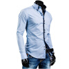 Men Shirt Luxury Brand 2017 Male Long Sleeve Shirts Casual Solid Multi-Button Hit Color Slim Fit Dress Shirts Mens Hawaiian XXL men s cowboy jeans fashion blue jeans pant men plus sizes regular slim fit denim jean pants male high quality brand jeans