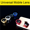 3 In 1 Universal Clip Camera Mobile Phone Lens Fish Eye + Macro + Wide Angle For iPhone 7 Samsung Galaxy S7 HTC Huawei All Phones universal 3 in 1 clip on wide angle fisheye macro lens set for iphone htc samsung silver