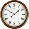 Wooden Wall Clock Quiet Silent Clock Wood Classic Large Roma Numeral Desktop Clock 16 Inch Needle Battery Operated Clock clock