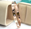 New 18K rose gold hollow Roman digital single drill bracelet female Korean version of the fashion couple bracelet gold new update version 2 assembled lm3886 amplifier board 2013 black gold with protection zj