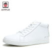 Apple  mens Fashion Sneakers nature leather high-cut Comfortable casual shoes