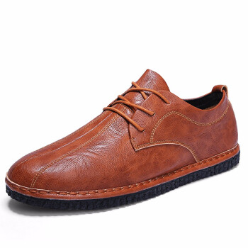 Mens Casual Shoes Fashion Leather Shoes Lace Up Shoes For Men Light Man Shoes Brown Black Gery Size 39-44