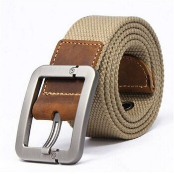 HOT 2017 wholesale Real Solid brand Belt for Men Casual Striped belt Cinto mens Fashion Pin Buckle Canvas cowboy knitted Strap